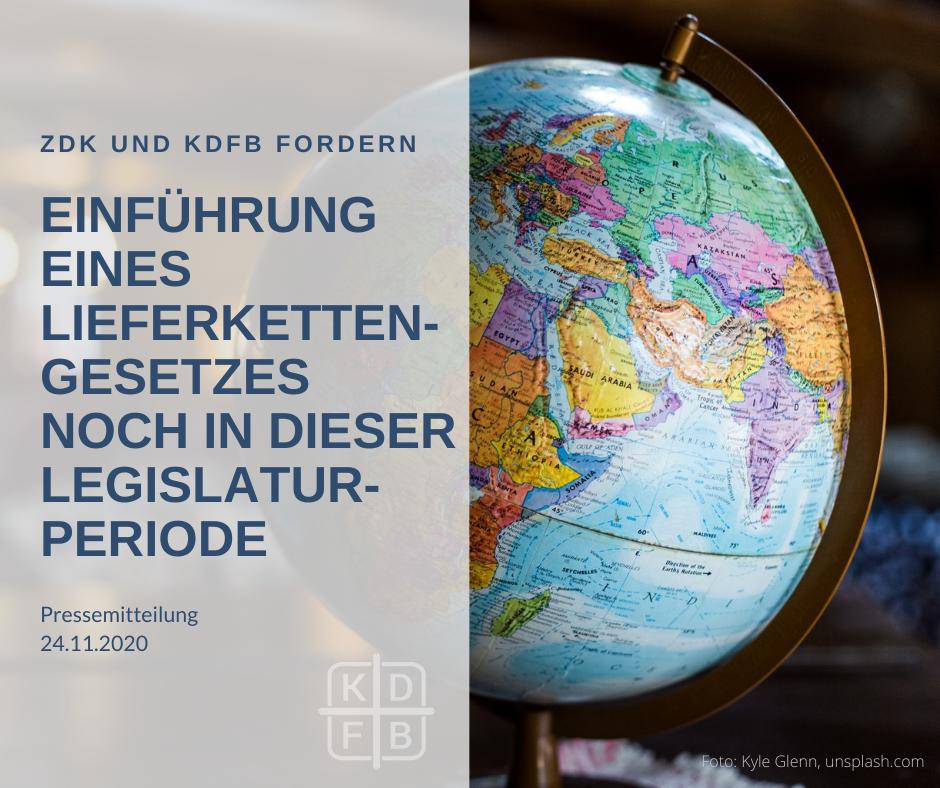 Einführung eines Lieferkettengesetzes noch in dieser Legislaturperiode