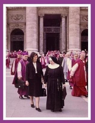 Gertrud Ehrle in Rom beim Zweiten Vatikanischen Konzil