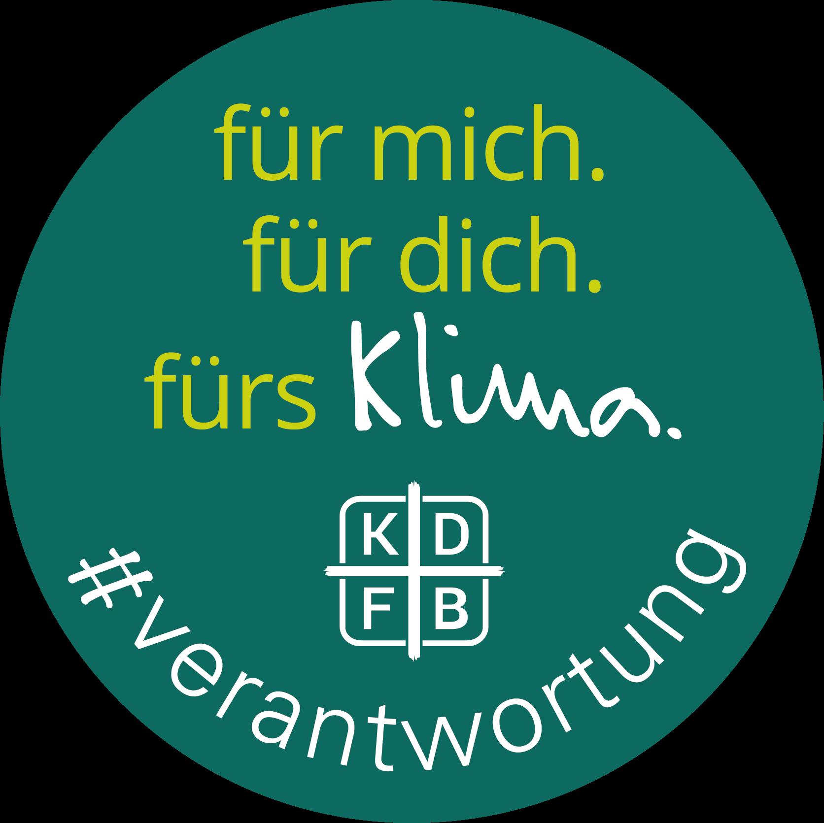 KDFB Aktionswoche für mich. für dich. fürs Klima. Button