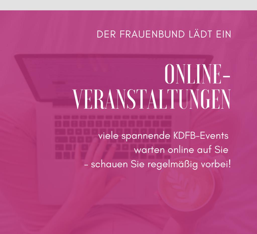 KDFB lädt ein - Online-Veranstaltungen Flyer