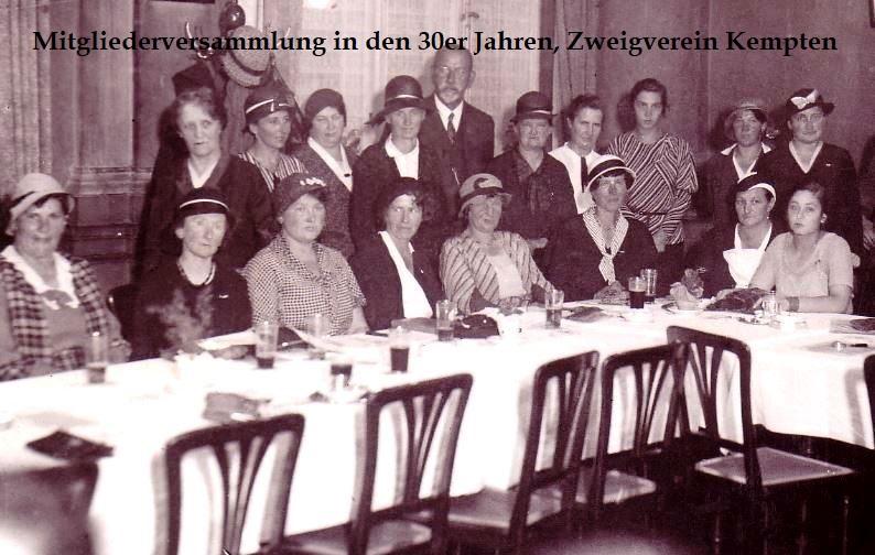 Historisches Foto: Mitgliederversammlung im ZV Kempten in den 30er-Jahren