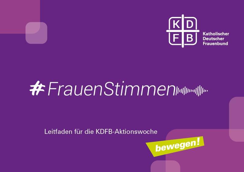 KDFB #frauenstimmmen Aktionsleitfaden