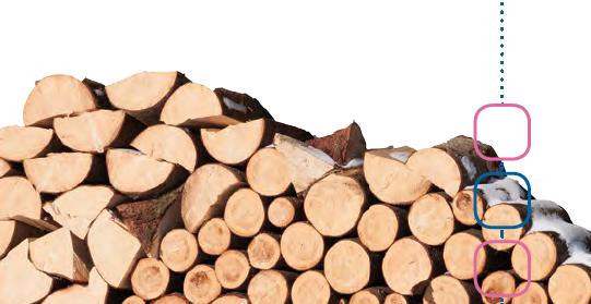 KDFB Broschüre Lebenverläufe und Alterssicherung gestapeltes Holz