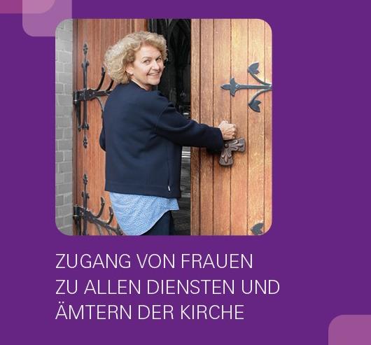 KDFB Broschüre Weihe Frau öffnet Kirchentür