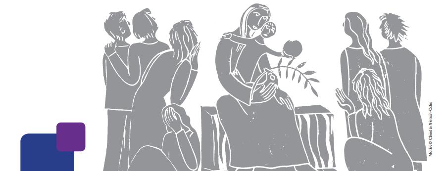 Holzschnitt Maria und Jesus